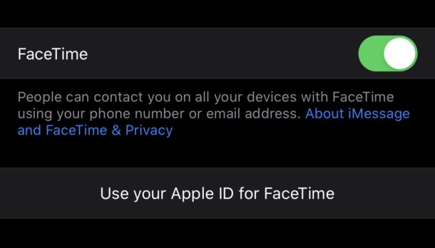 Tap to use Apple ID email address