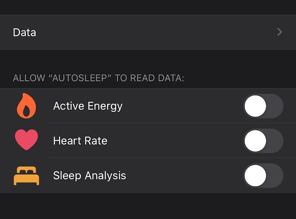 Health app data control on iPhone