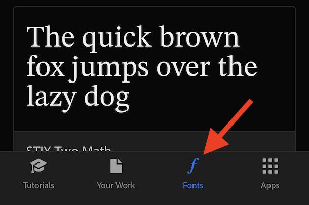 Tap Fonts