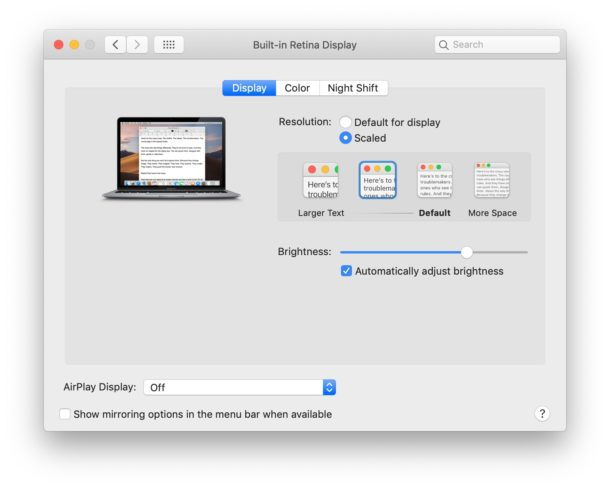 Unable to change refresh rate on Mac display
