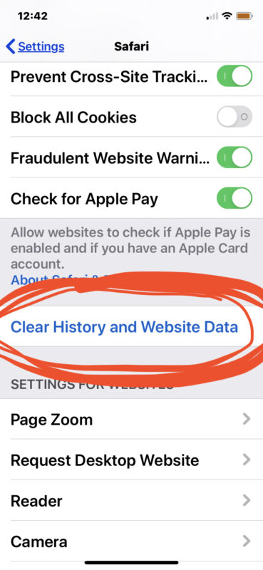 How to clear cache from Safari on iPhone or iPad