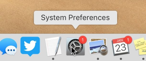 Hide the red update badge in MacOS System Preferences
