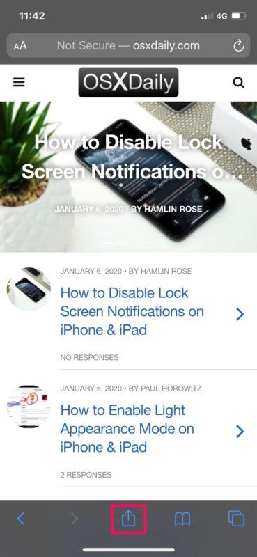 How to Bookmark a Web Page in Safari on iPhone & iPad