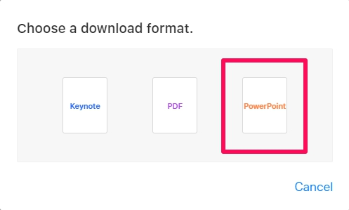 How to Convert Keynote to PowerPoint with iCloud
