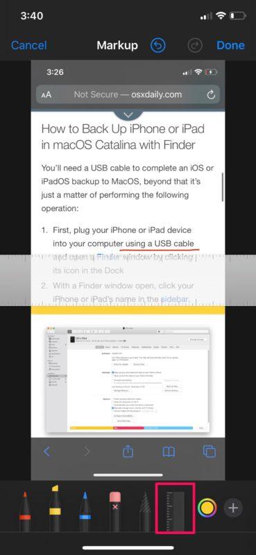 How to Markup Screenshots on iPhone & iPad