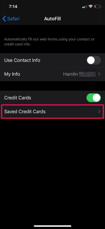 How to Save Credit Card Info in Safari on iPhone & iPad