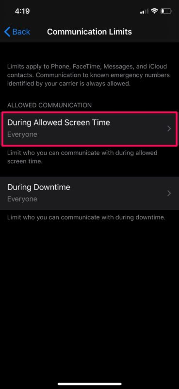 How to Set Communication Limits with Screen Time
