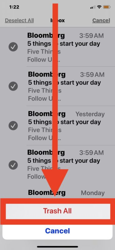How to delete all emails on iPhone or iPad from Mail app