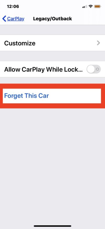 How to disable CarPlay with iPhone