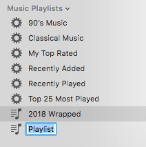 Enter a playlist name