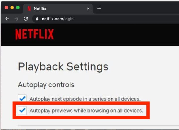 How to disable Netflix autoplaying previews
