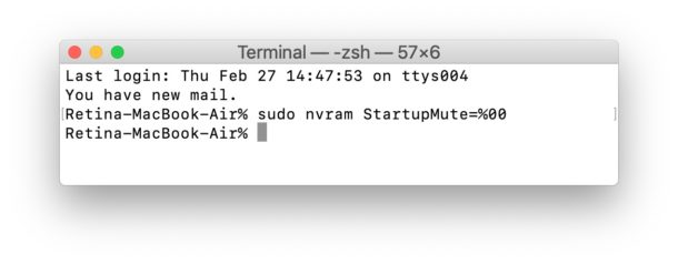 Enable the boot chime on newer Macs with a terminal command