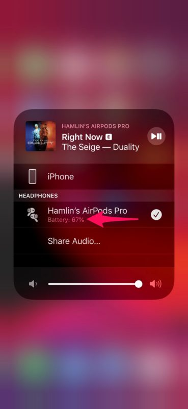 How to Check AirPods Battery Life from Control Center on iPhone & iPad