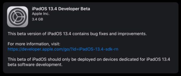 iPadOS 13.4 beta 1