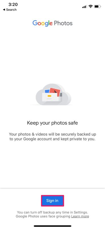 How to Backup iPhone Photos to Google Photos