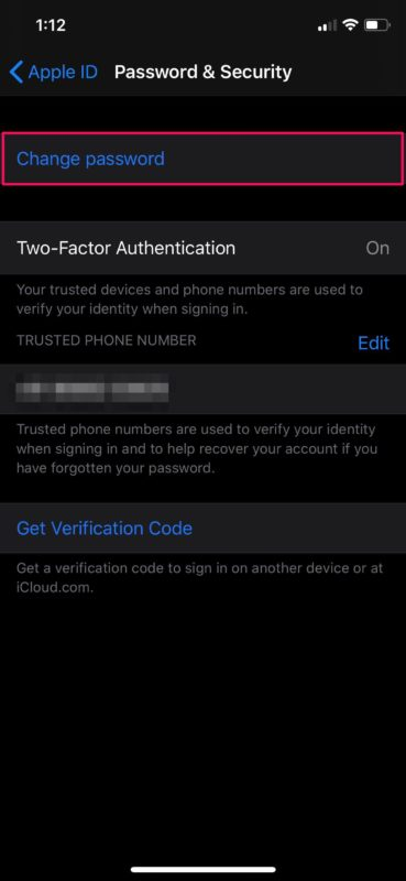 How to Change Apple ID Password from iPhone