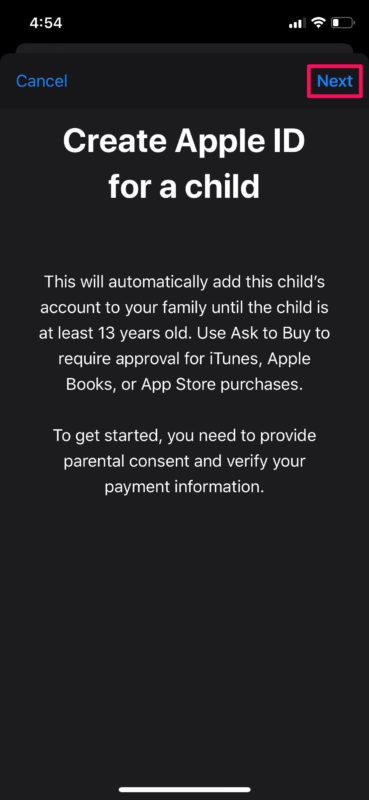 How to Create a Child Account for Family Sharing on iPhone