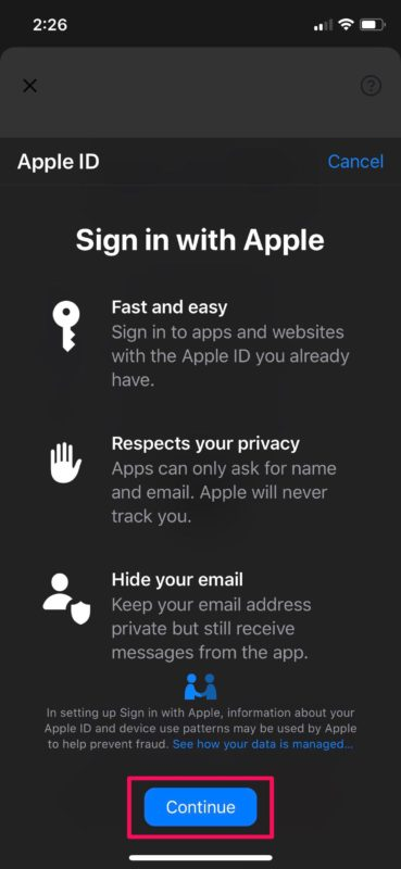 How to Use Sign in With Apple on iPhone