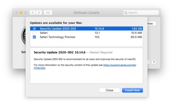 Security Updates for macOS