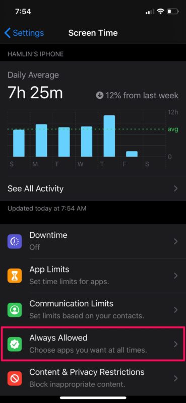 How to Set Allowed Apps During Downtime Using Screen Time