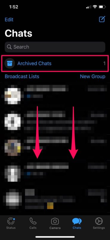How to Hide WhatsApp Messages on iPhone by Archiving Messages