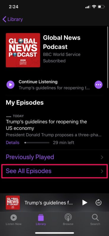 How to Manage Podcasts Subscriptions on iPhone & iPad