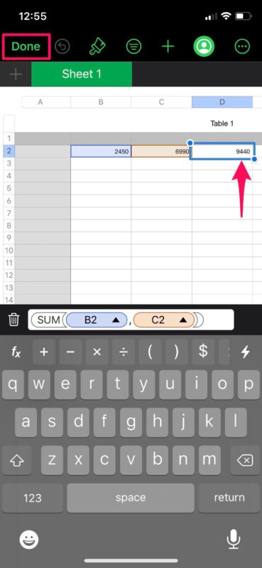 How to Use Formulas in Numbers Spreadsheets on iPhone & iPad