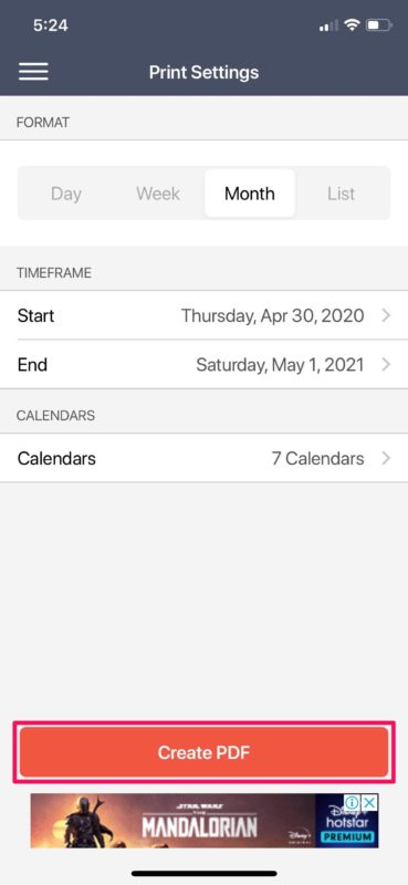 How to Save & Export Calendar as PDF from iPhone & iPad