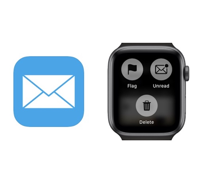 Apple mail icon and Apple Watch