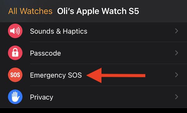 Tap emergency SOS