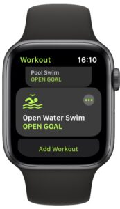 Tap a swimming activity