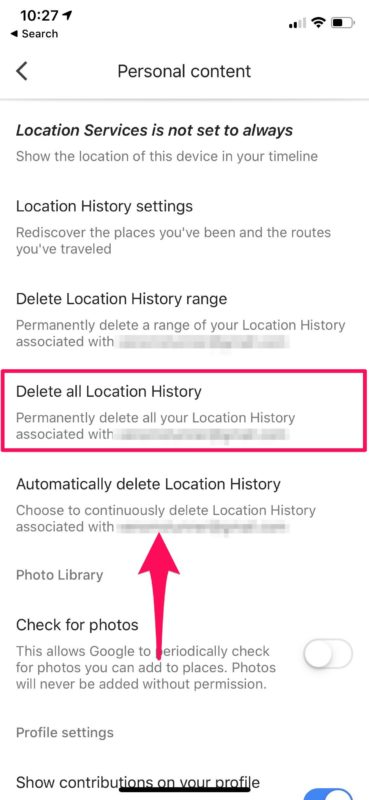 How to Delete Google Location History on iPhone