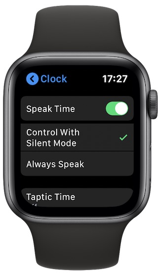 Enable speak time