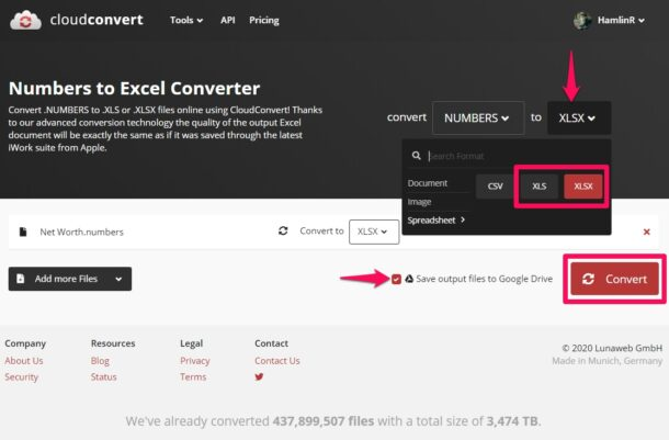 How to Convert Numbers File to Google Sheets