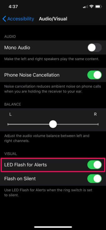 How to Enable LED Flash Notifications on iPhone