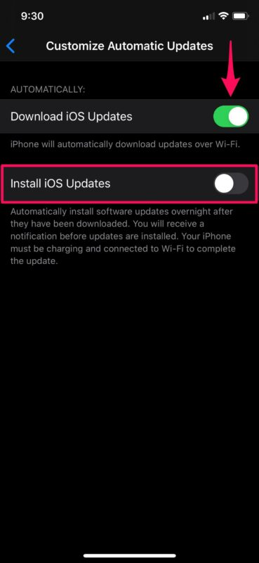 How to Customize Automatic Updates for iOS & iPadOS