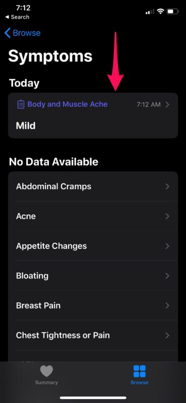 How to Track Symptoms with Health App on iPhone