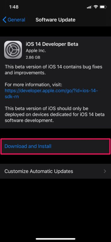 How to Install iOS 14 Developer Beta on iPhone