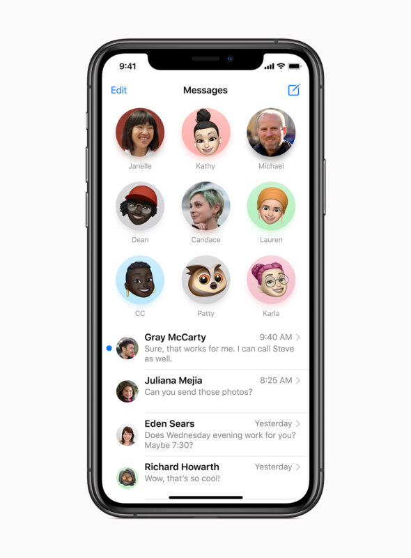 iOS 14 new messages features