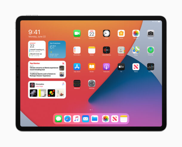 iPadOS 14 Home Screen