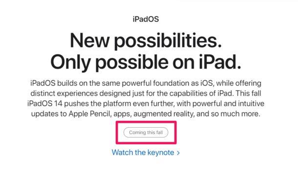 iPadOS 14 Release Date