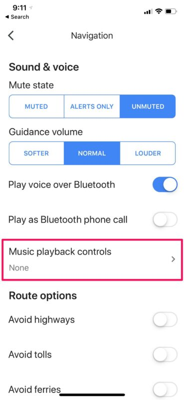 How to Access Music Controls in Google Maps on iPhone & iPad