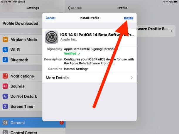 Install iPadOS 14 public beta