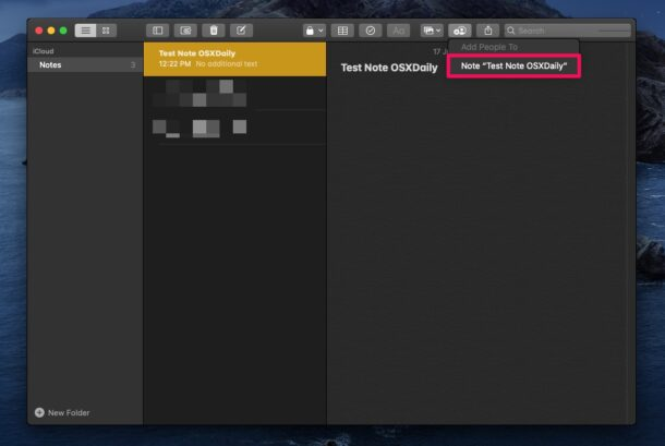 How to Share Notes from Mac