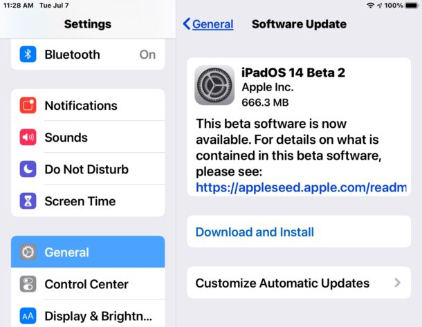 iPadOS 14 beta 2 and iOS 14 beta 2 downloads