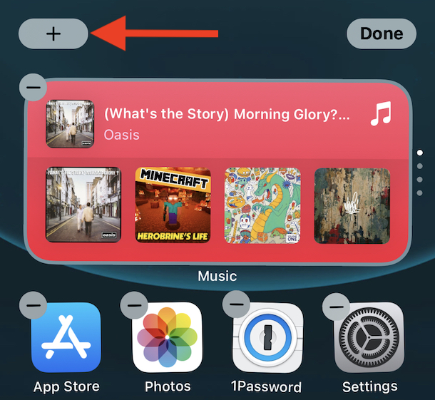 Tap the plus icon