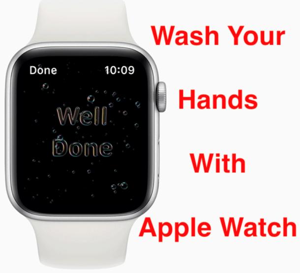 Apple Watch mencuci tangan