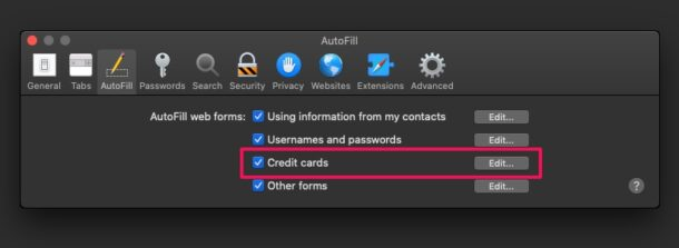 How to Add Credit Cards to Safari Autofill on Mac