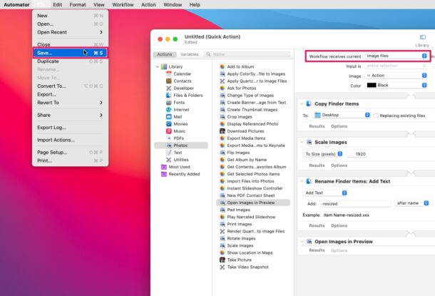 How to Create Custom Quick Actions in MacOS