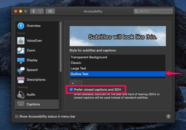 How to Enable & Use Subtitles & Closed Captions on Mac